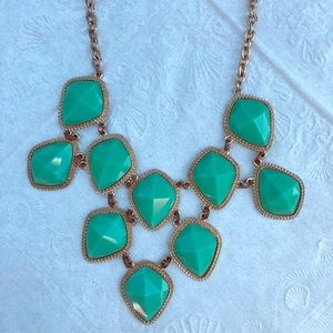 Green & gold statement necklace